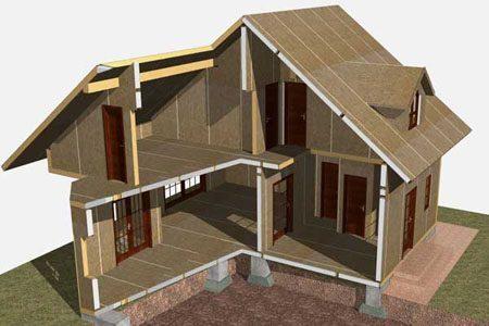 Строительство зданий на основе стеновых SIP панелей в Сургуте
